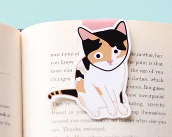 Calico Cat Magnetic Bookmark (Jumbo)