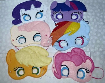 My little pony inspired mask set