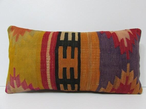 Yellow Lumbar Pillow Cover Orange Lumbar By