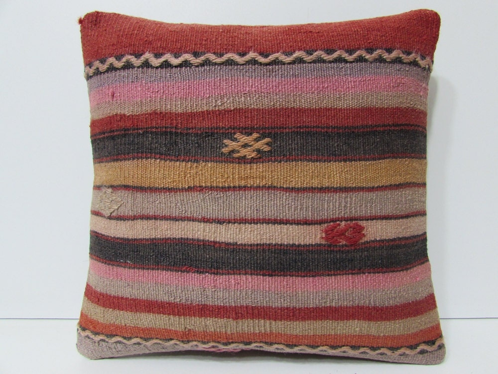 Striped Pink Pillow Couch Throw Pillow By Decolickilimpillows