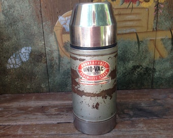 Vintage Uno-Vac Unbreakable Stainless Steel Thermos