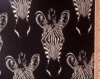 Wild Animal Cotton Fabric! Zebra, Elephant, Giraffe, Bear, Penguins! [Choose Your Cut Size]