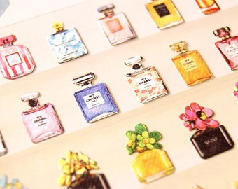 1 sheet Fashion Perfume Bottle patterns Craft scrapbooking stickers Gift package Stickers