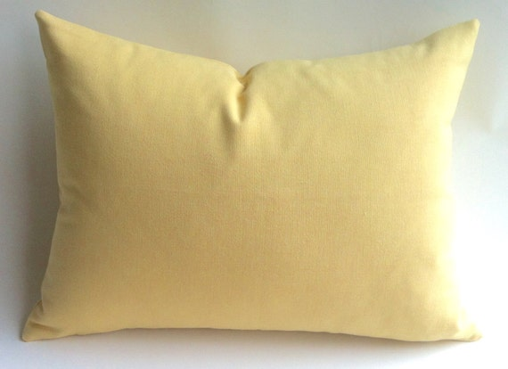 Pale Yellow Throw Pillow Cover : One Light Yellow Zipper Pillow Cover Butter yellow by Pillomatic