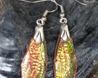 Pink Opal - Gem Fae Wing earrings