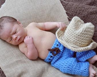 Little Cowboy Newborn Photogrphy Prop Made in the USA
