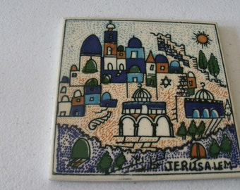 Scandiano Tile Painting Of Jerusalem