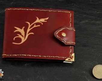 Lannister wallet, Game of Thrones wallet,  leather wallet, medieval wallet, purse Lannister, GOT wallet, billfold GOT, fantasy wallet