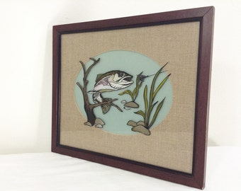 Vintage Framed Bass Artwork & Decoration