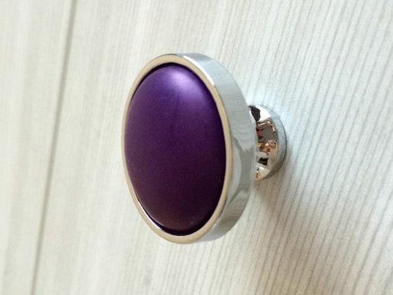 Purple Knobs Dresser Knob Pulls Drawer Pull By LynnsHardware