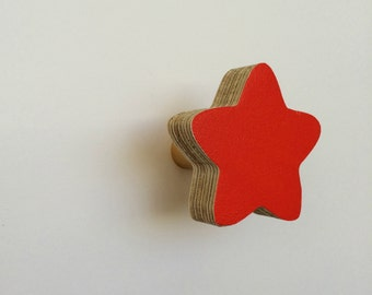 Wall Hook Star Red