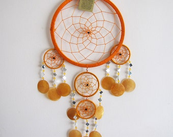 Free Shipping/Orange  Dream Catcher-Nacre Wind Bell -Tricyclic Oversize Dream Catcher -Indian Symbols-2 Size