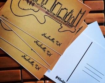 "Nashville-""Electric Skyline"" postcards"