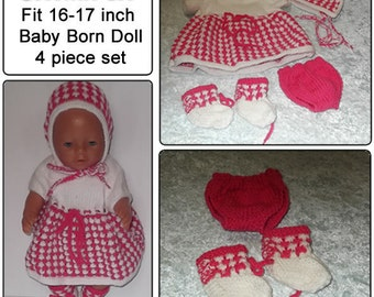 Coconut ice To fit baby born and similar size dolls 16-17 inch