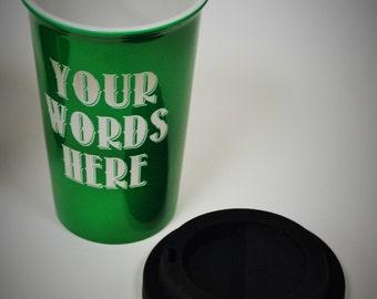 Custom engraved Latte mugs, personalized mugs, Custom Engraved Latte Mugs, Ceramic Mugs