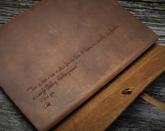 2 Writer's Log Journal Leather Journal Personalized Journal, Engraved Journal, Diary, Notebook, Personalized Engraved Diary, Genuine Leather