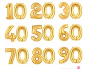 "Giant 40"" Foil Number Milestone Balloons - by Celebration Lane"