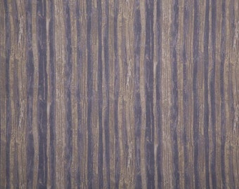 Van Gough Lines Periwinkle and Grey Lines Cotton Fabric by Marcia Derse BTY 1 yd