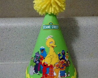 Sesame street party hat party supplies