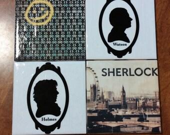 Sherlock Holmes and John Watson Fanmade Coasters