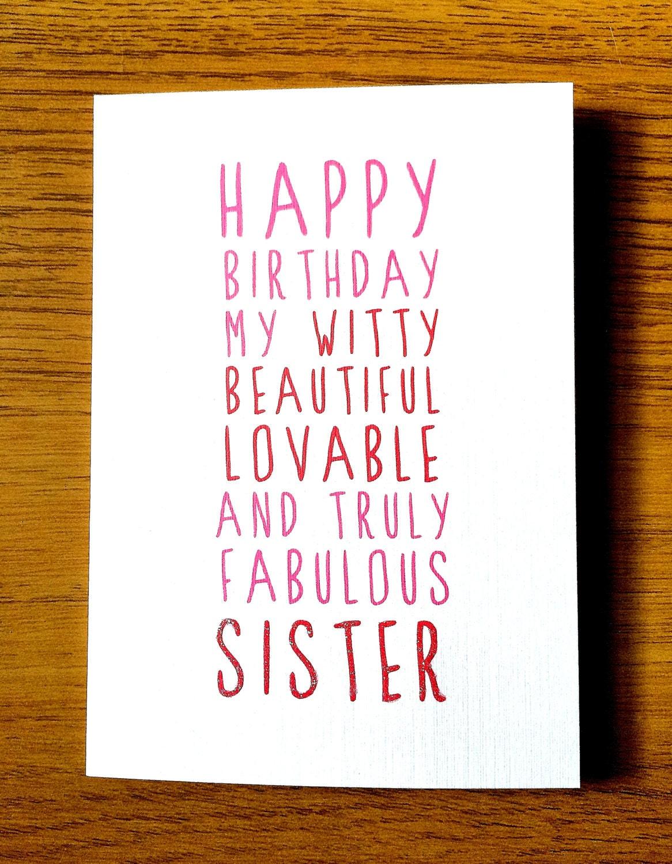 Sweet Description Happy Birthday Sister By LittleMushroomCards