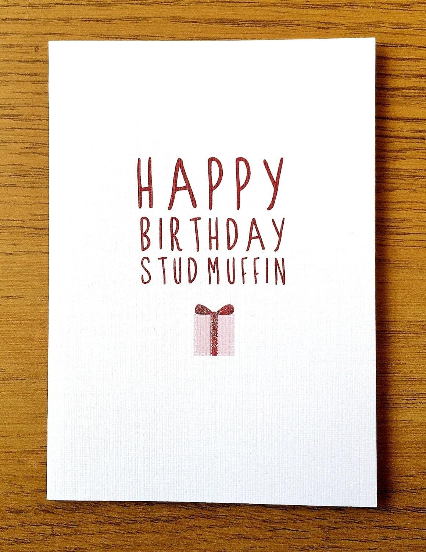 happy birthday stud muffin card. Black Bedroom Furniture Sets. Home Design Ideas