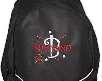 FREE SHIPPING - Ladybug  Personalized Monogrammed Backpack Book Bag school tote  - NEW