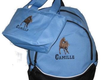 PERSONALIZED Arabian horse Backpack & Lunch bag school book monogrammed NEW -Free Shipping