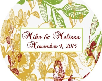 Fall Wedding Stickers