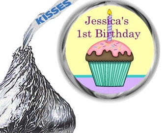 108 First Birthday Party Hershey's Kiss Labels