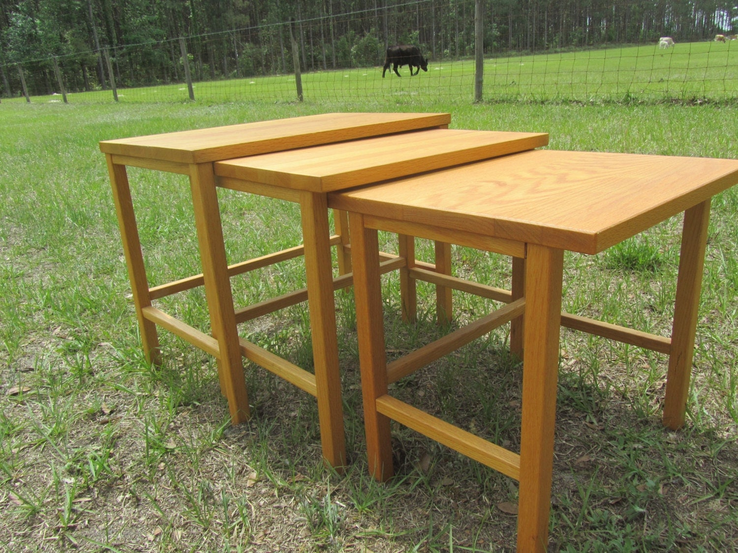 Stackable tables nesting tablesend table wood side