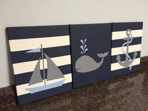 Nautical nursery decor baby boy girl nautical room decor for Chambre 8x10