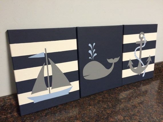 Chambre 8x10 Of Nautical Nursery Decor Baby Boy Girl Nautical Room Decor