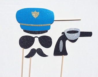 Police Officer Photo Booth Prop ; Cop Photo Prop ; Bachelorette Party Photo Booth Props ; Police Officer