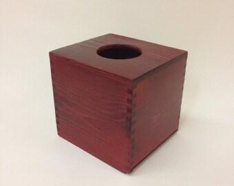 Lacquered Cube Tissue Box/ Tissue Holder Wedding - 13 x 14.5 X 14cm