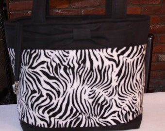 Zebra Pattern Tote Bag