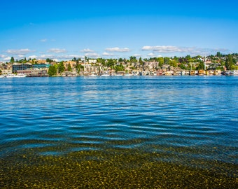 Lake Union at Gas Works Park, in Seattle, Washington - Photography Fine Art Print or Wrapped Canvas