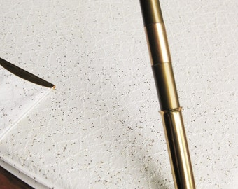 Vinyl, glittery 1960s folder. Gold pen. So stylish! Monogrammed VED.