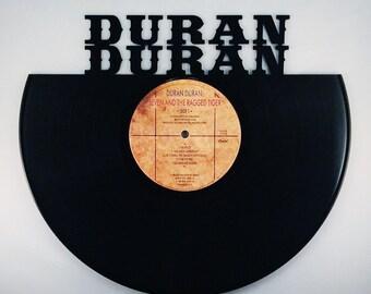 Recycled Vinyl Record DURAN DURAN Wall Art