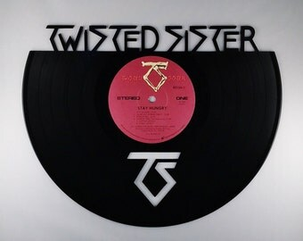 Recycled Vinyl Record TWISTED SISTER Wall Art