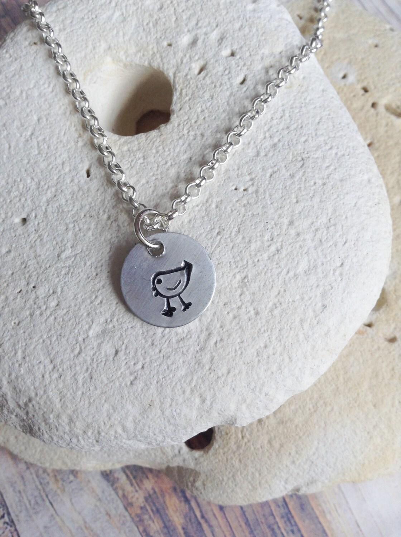 Vegan jewellery - chicken necklace - jewelry - chicken necklace - animal rights jewellery - animal jewellery - handstamped