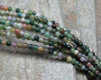 "Fancy Jasper Beads, 4 mm, 15"" strand - Item B0359"