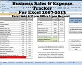 Business Sales & ExpenseTracker, Editable Business Forms, Profit Loss Calculations for Etsy Sellers
