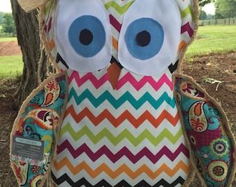 Owl Burlap Door Hanger