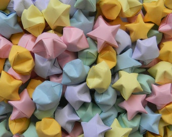200 Pastel Mix Origami Stars, Lucky Stars, Wishing Stars