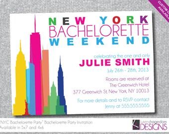 New York - Bachelorette Party Invitation