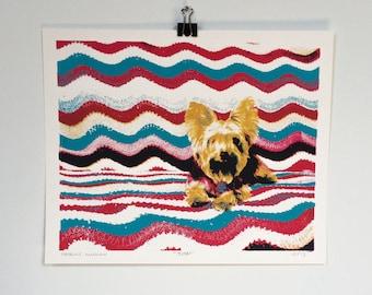 Yorkie Pop Art Screen Print