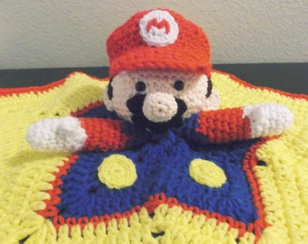 Super Mario Star Snuggle Buddy Baby Security Blanket