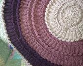 Free Shipping! Crochet Circular/Round Baby Afghan Blanket Rug