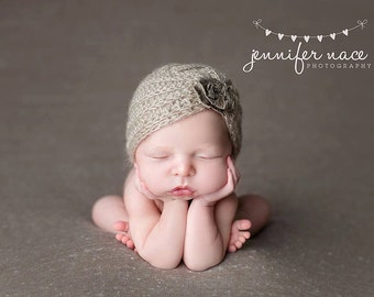 Mohair Turban, Newborn Hat